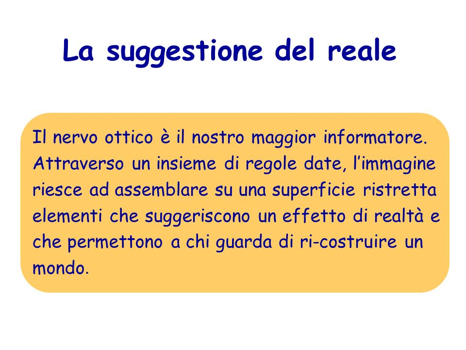 La suggestione del reale