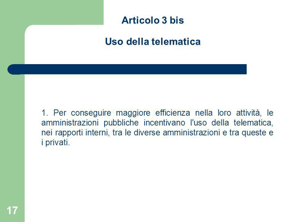 Articolo 3 bis Uso della telematica