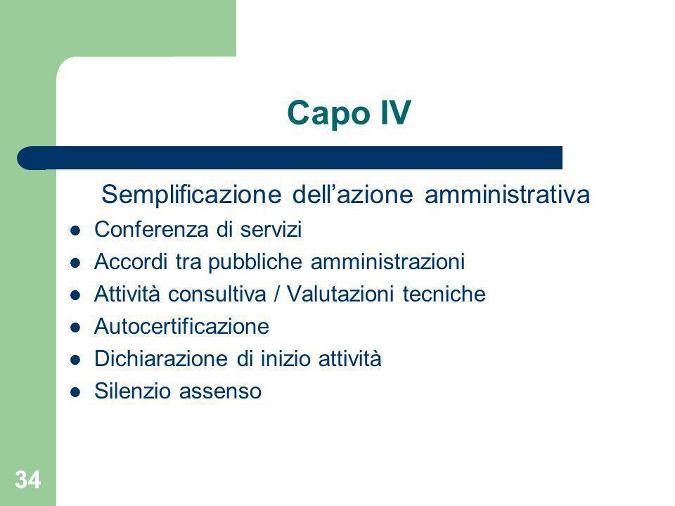 Semplificazione dell'azione amministrativa