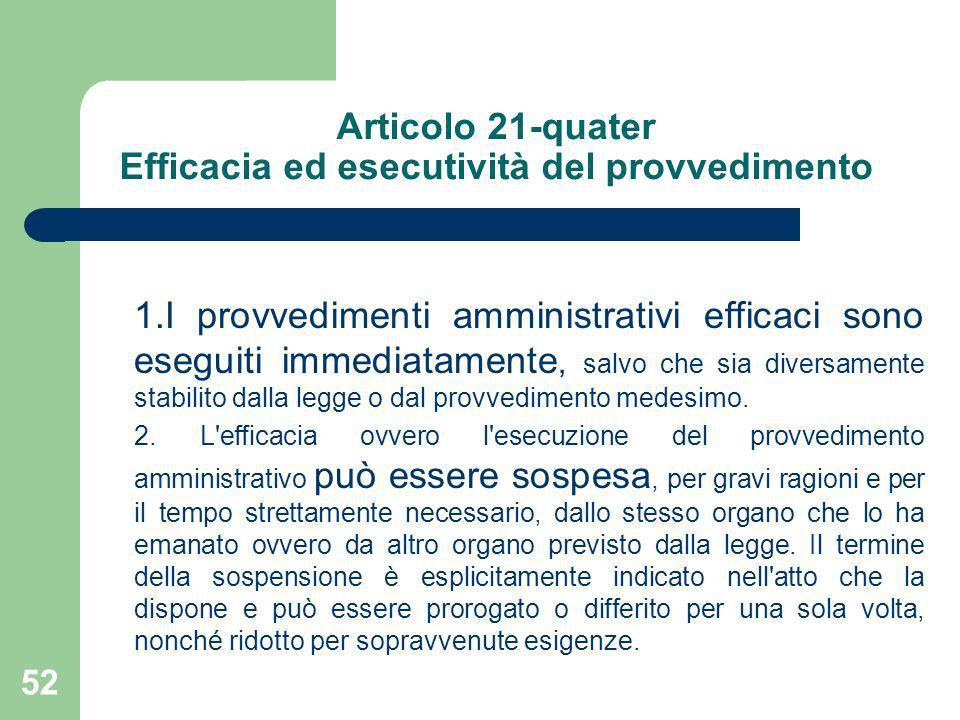 Articolo 21-quater Efficacia ed esecutività del provvedimento