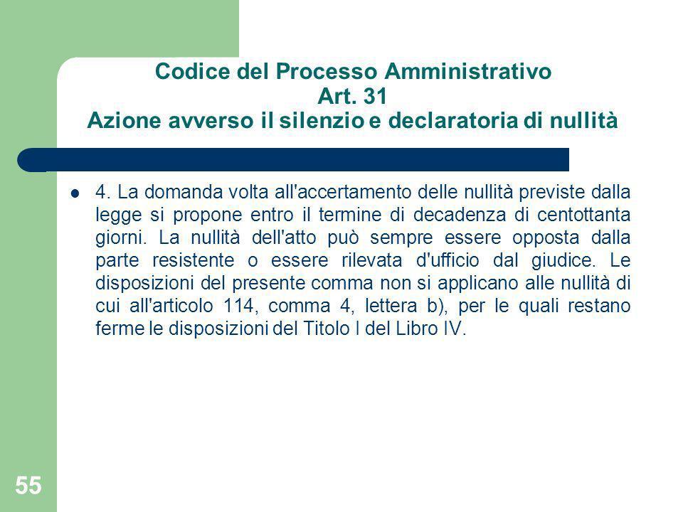 Codice del Processo Amministrativo Art