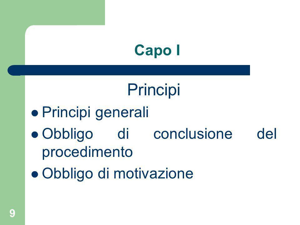 Principi Capo I Principi generali