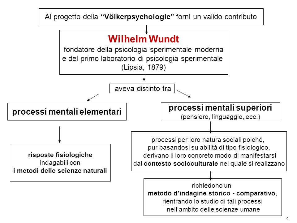 Wilhelm Wundt processi mentali superiori processi mentali elementari