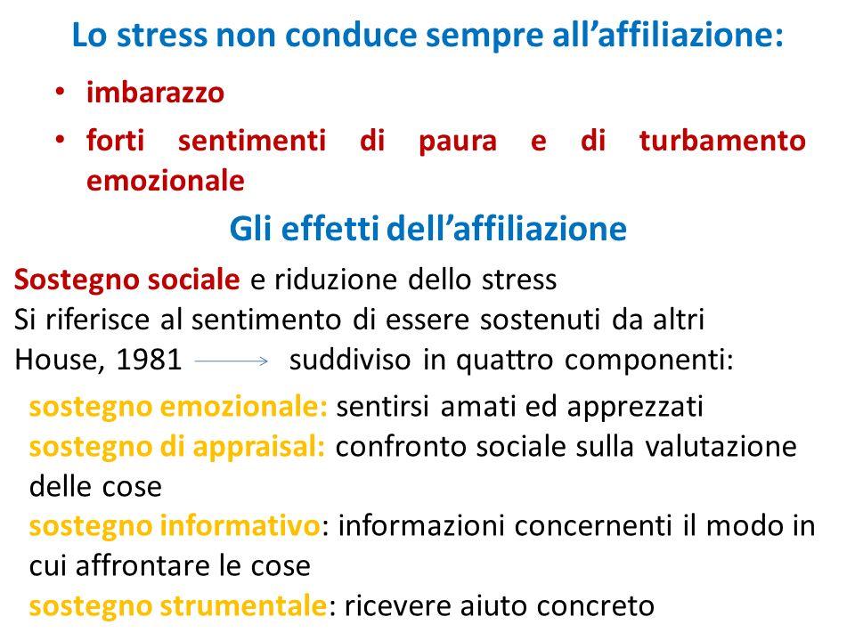 Lo stress non conduce sempre all'affiliazione: