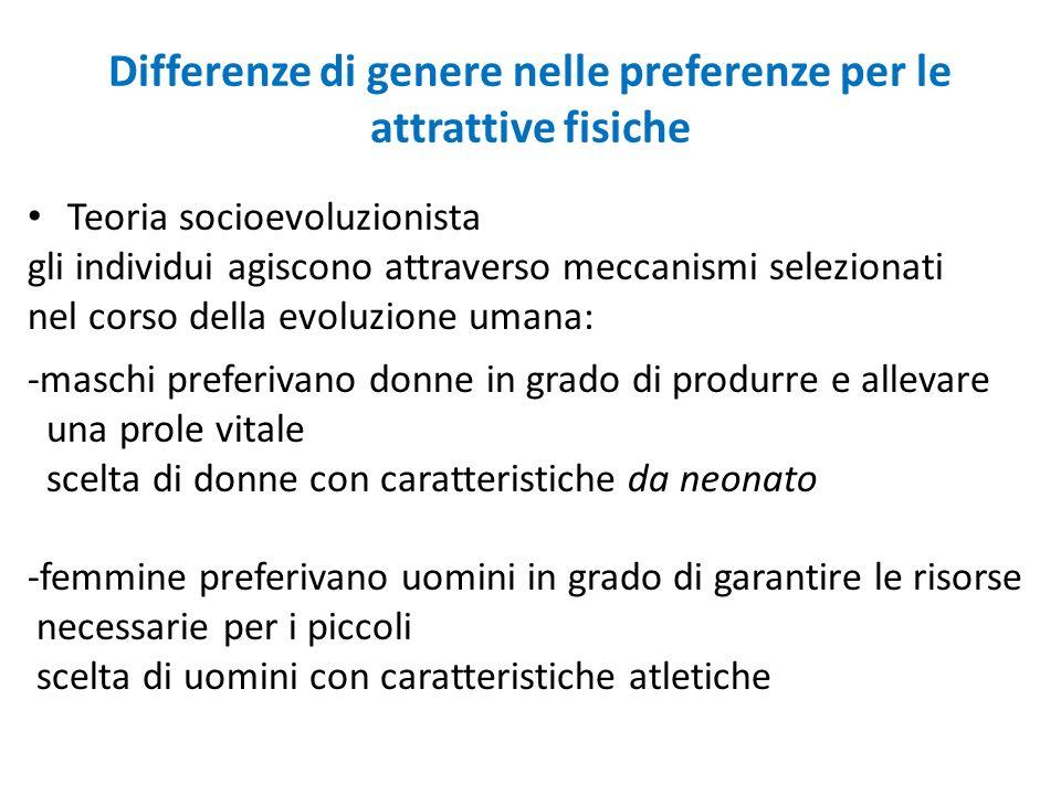Differenze di genere nelle preferenze per le attrattive fisiche