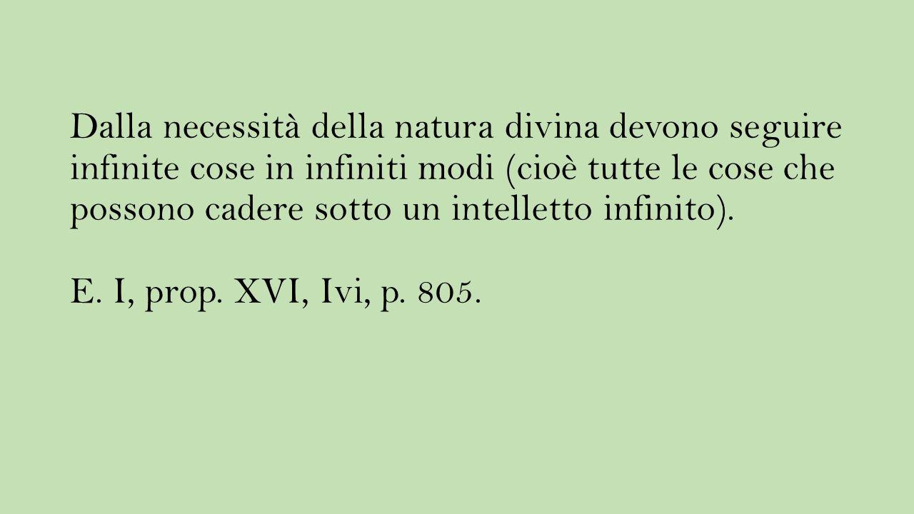 Dalla necessità della natura divina devono seguire infinite cose in infiniti modi (cioè tutte le cose che possono cadere sotto un intelletto infinito).