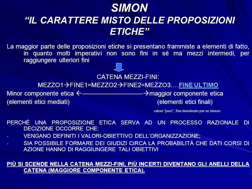 SIMON IL CARATTERE MISTO DELLE PROPOSIZIONI ETICHE