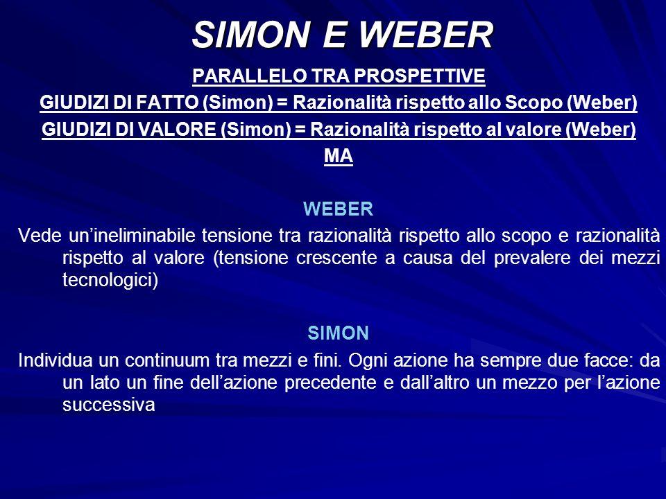 SIMON E WEBER PARALLELO TRA PROSPETTIVE