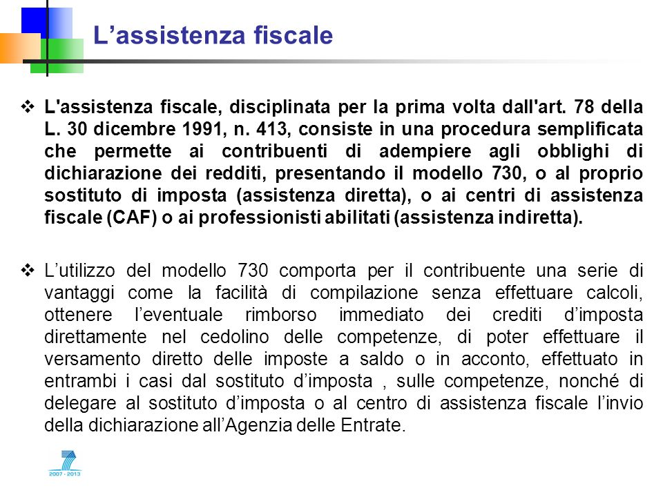 L'assistenza fiscale