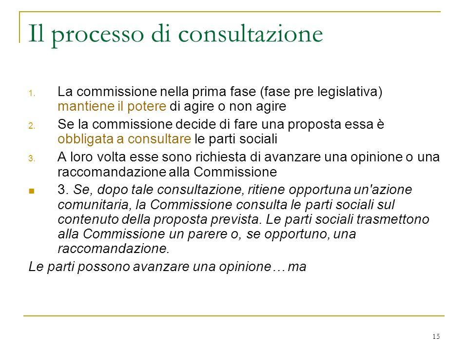 Il processo di consultazione