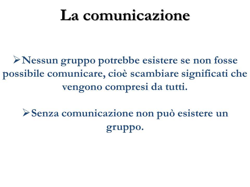 Senza comunicazione non può esistere un gruppo.