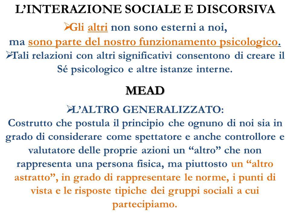 L'INTERAZIONE SOCIALE E DISCORSIVA