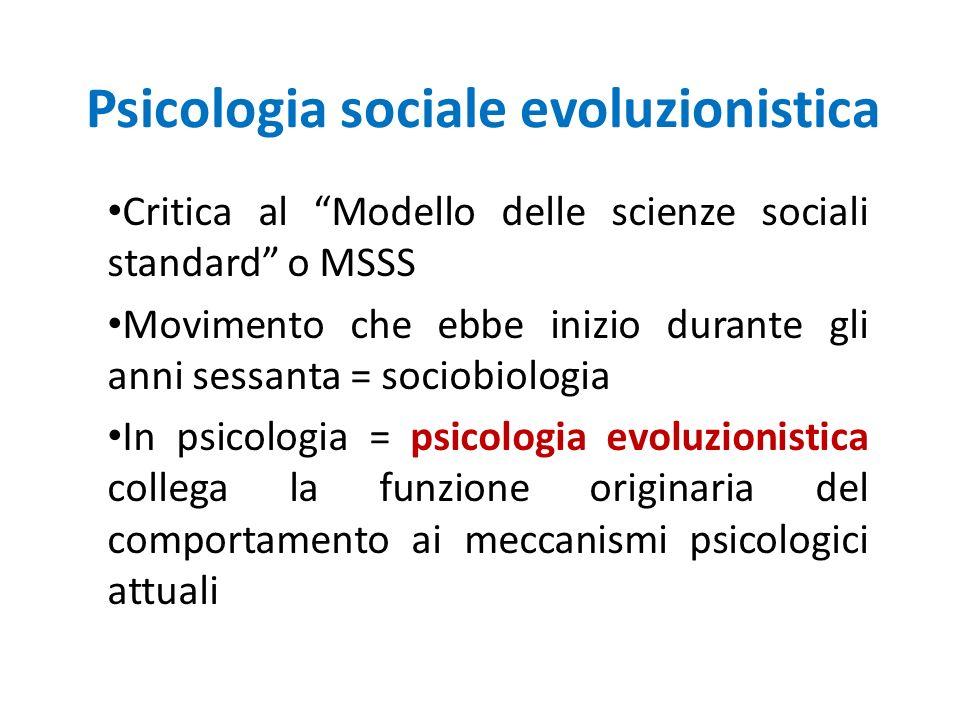 Psicologia sociale evoluzionistica