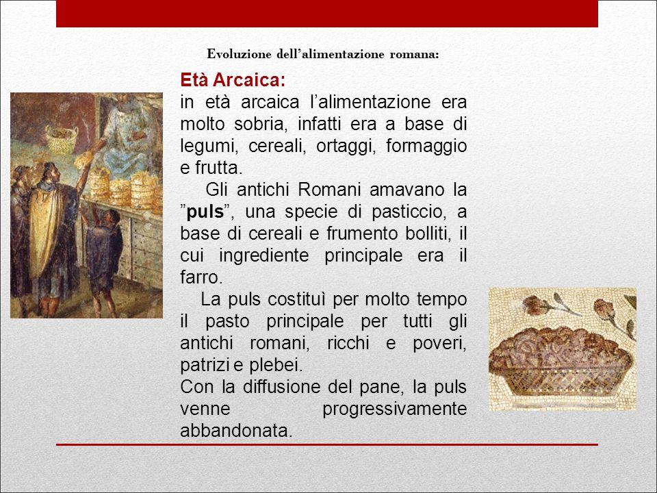 Evoluzione dell'alimentazione romana:
