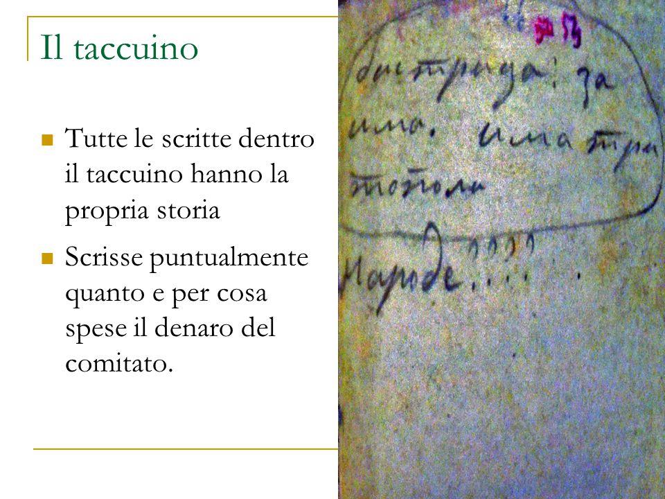 Il taccuino Tutte le scritte dentro il taccuino hanno la propria storia.