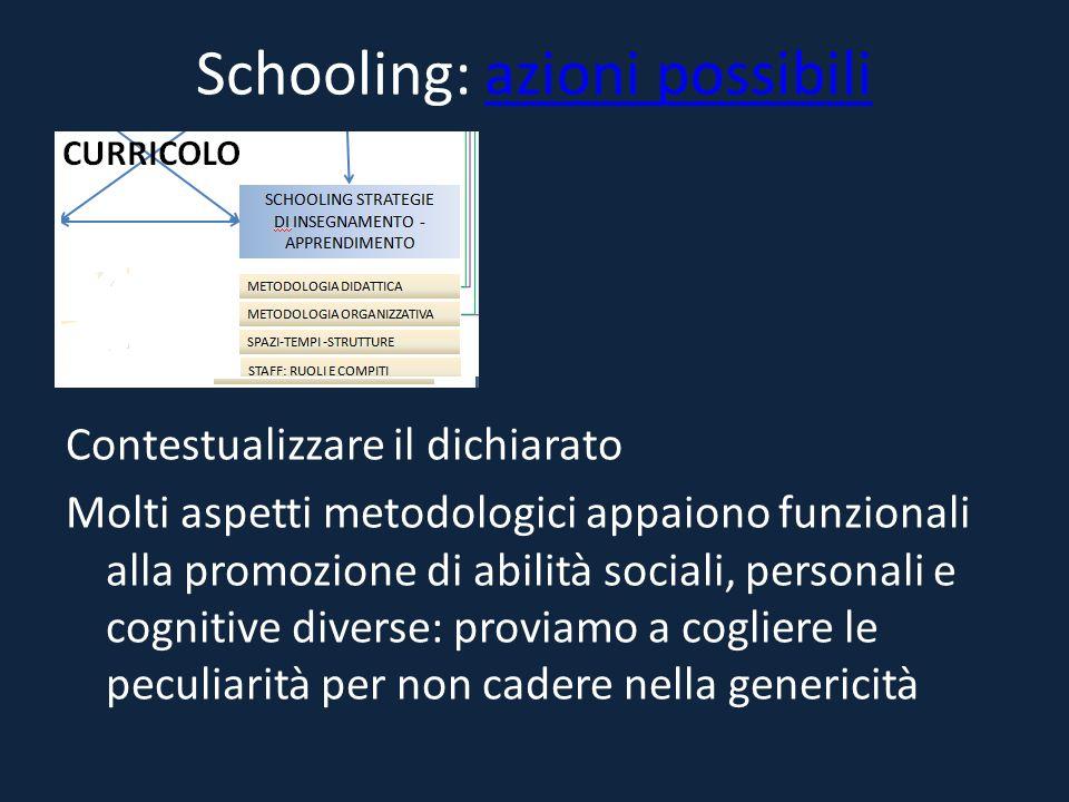 Schooling: azioni possibili