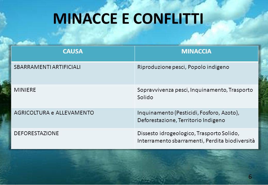 MINACCE E CONFLITTI CAUSA MINACCIA SBARRAMENTI ARTIFICIALI