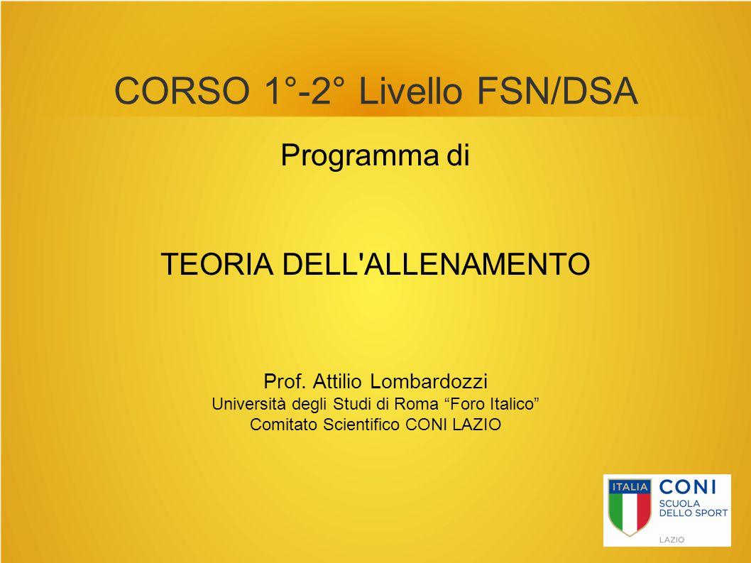 CORSO 1°-2° Livello FSN/DSA