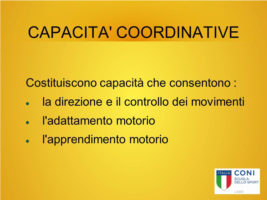 CAPACITA COORDINATIVE