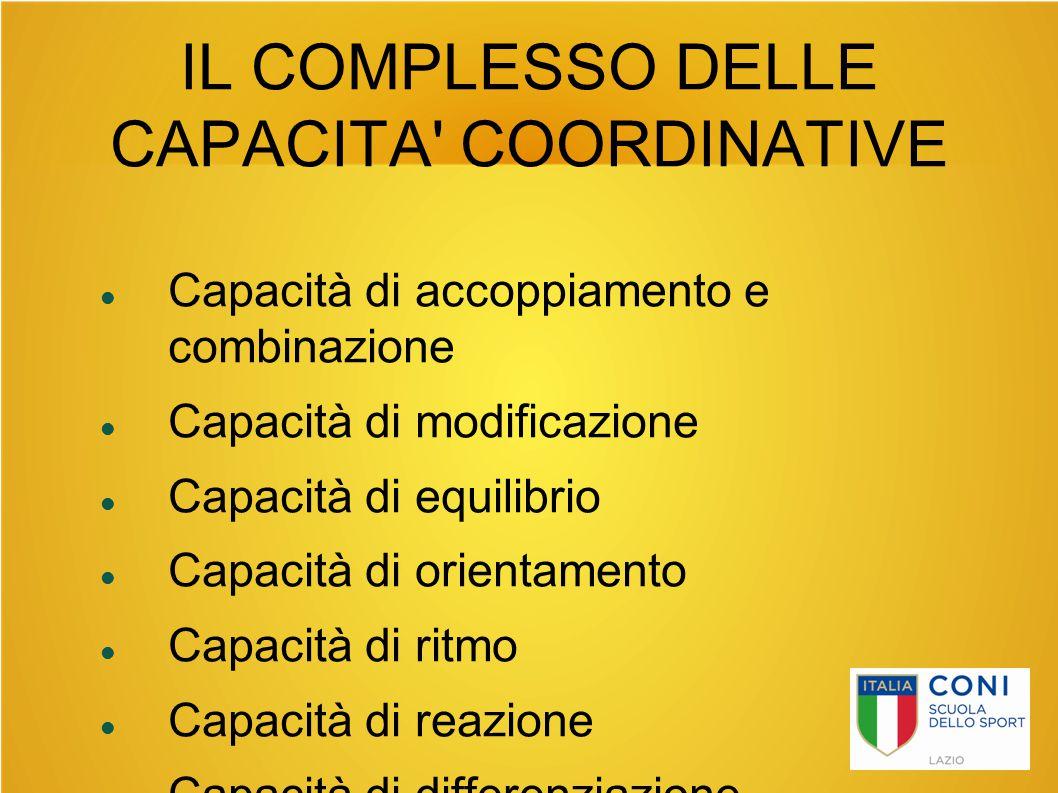 IL COMPLESSO DELLE CAPACITA COORDINATIVE
