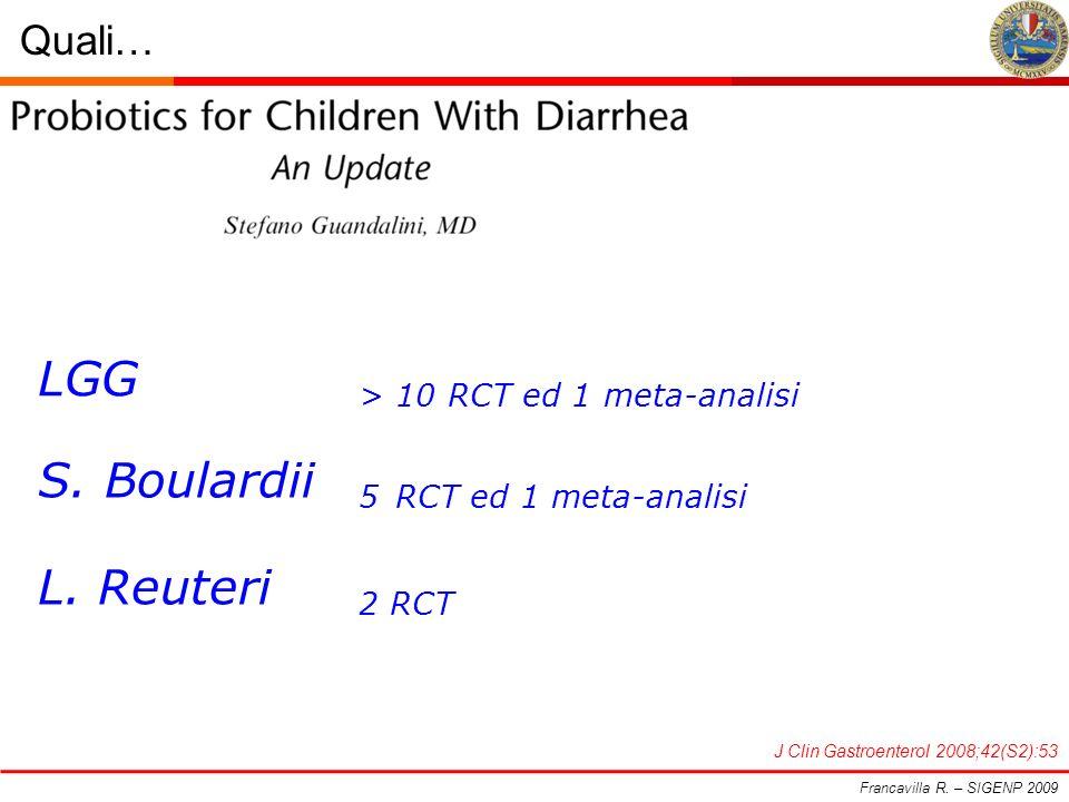 LGG > 10 RCT ed 1 meta-analisi