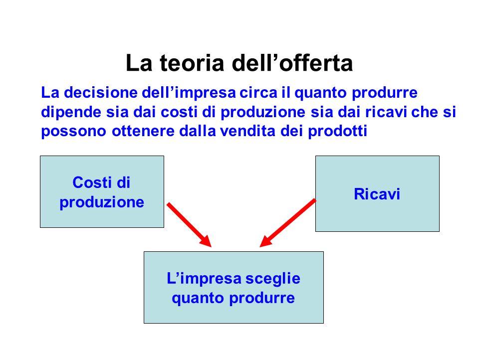 La teoria dell'offerta