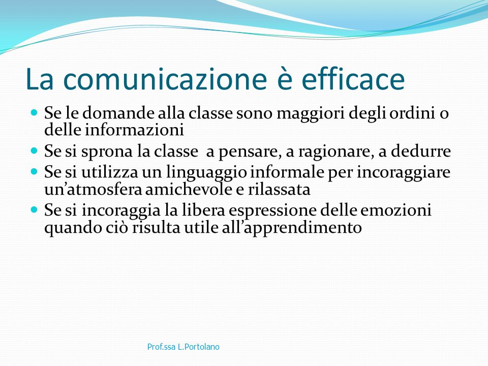 La comunicazione è efficace