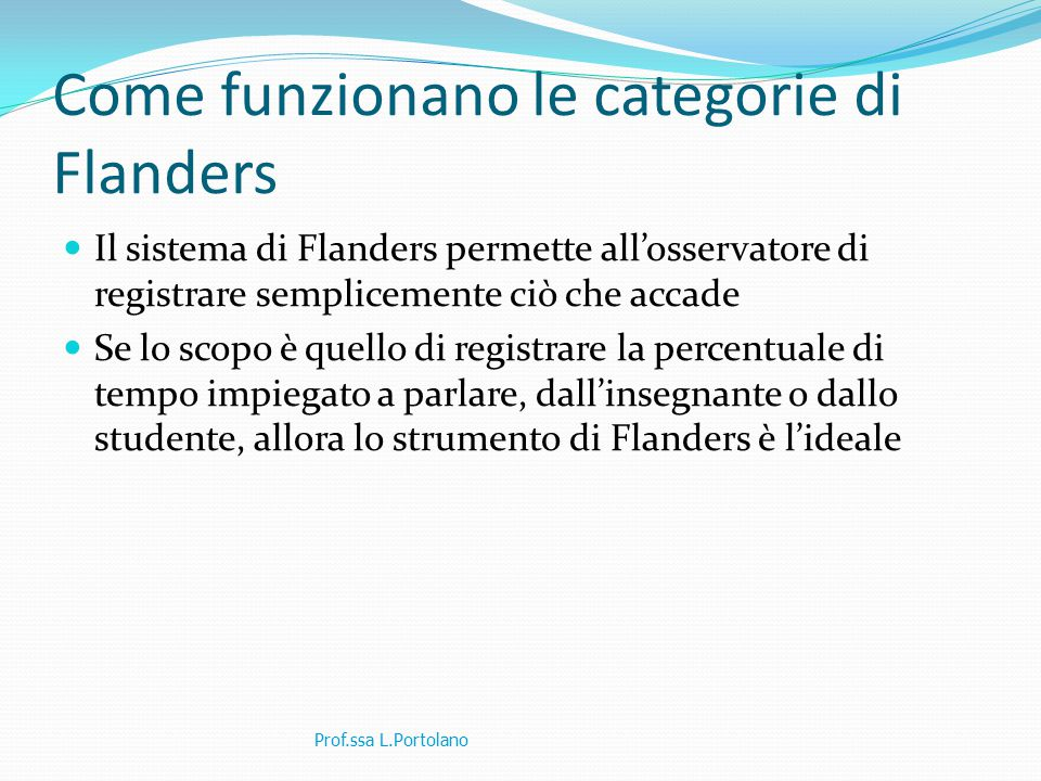 Come funzionano le categorie di Flanders
