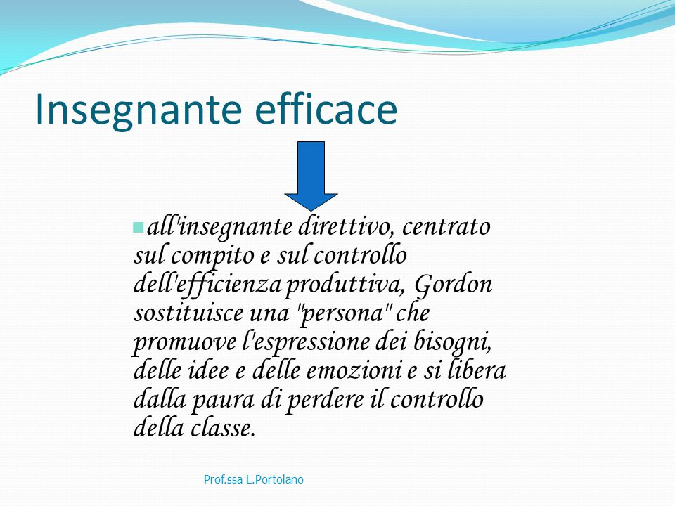 Insegnante efficace