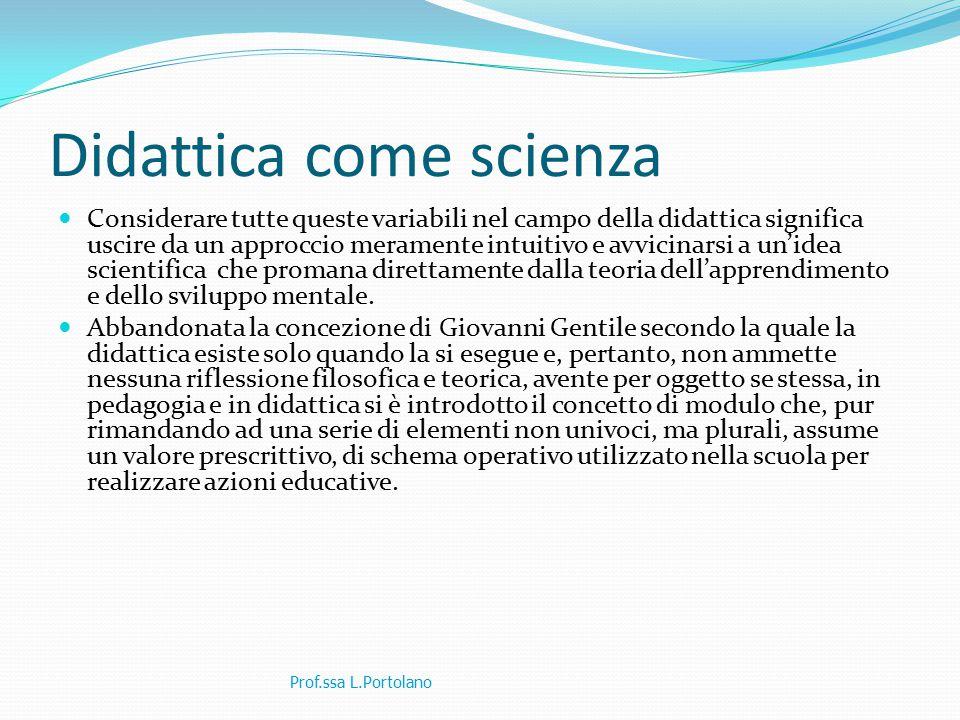 Didattica come scienza