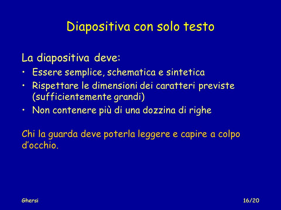 Diapositiva con solo testo
