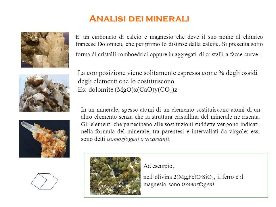 Analisi dei minerali