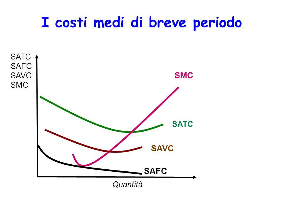 I costi medi di breve periodo