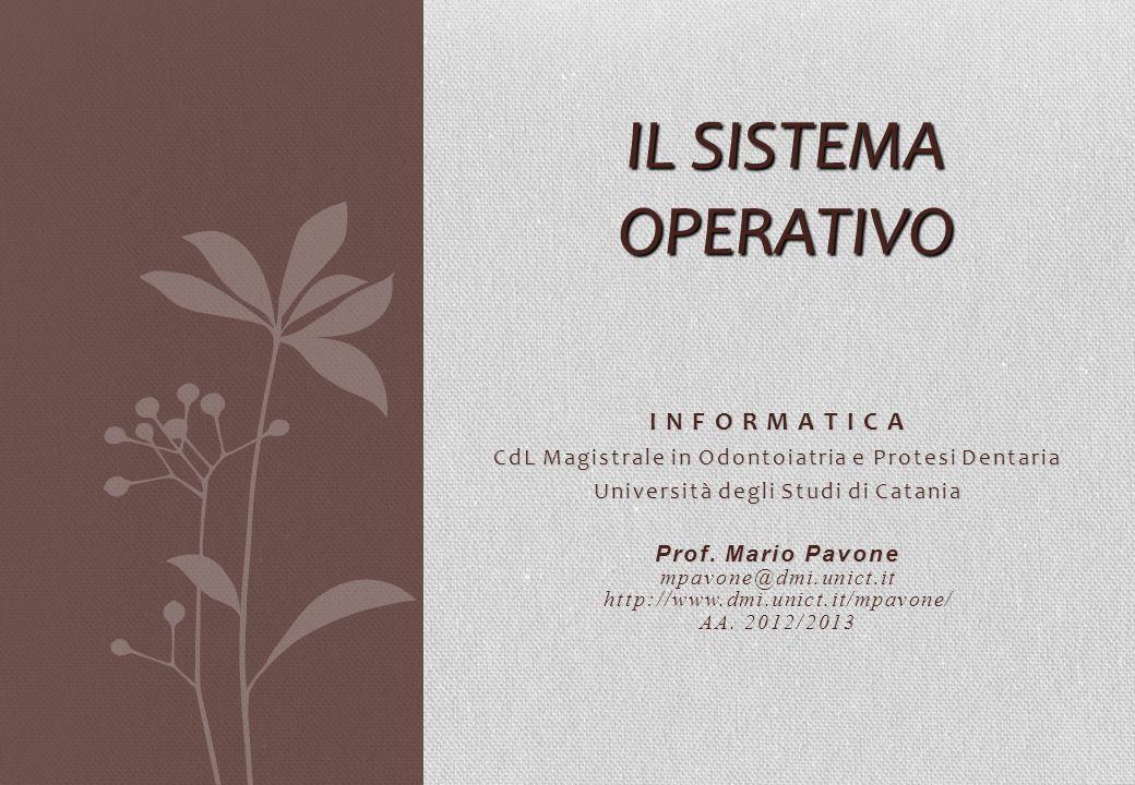 Il Sistema Operativo I N F O R M A T I C A