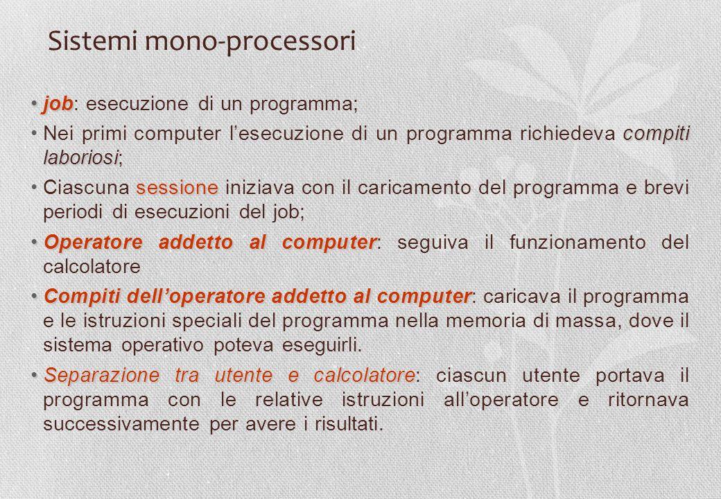 Sistemi mono-processori