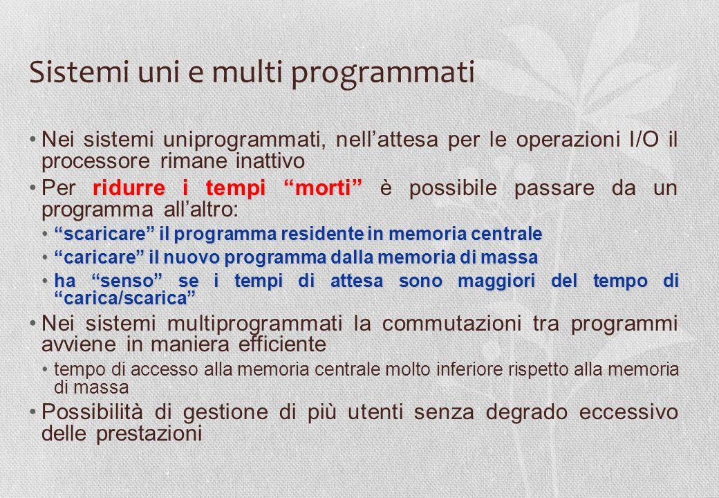 Sistemi uni e multi programmati