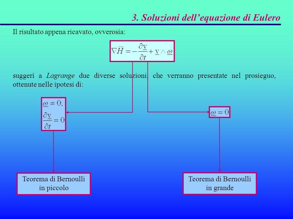 3. Soluzioni dell'equazione di Eulero