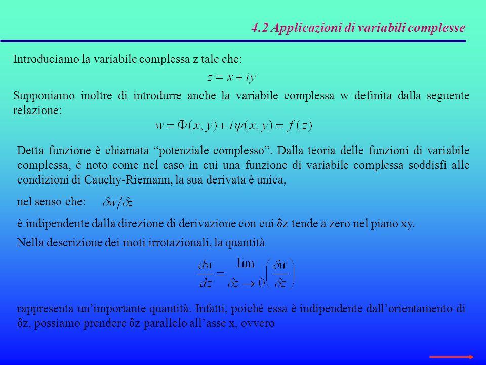 4.2 Applicazioni di variabili complesse