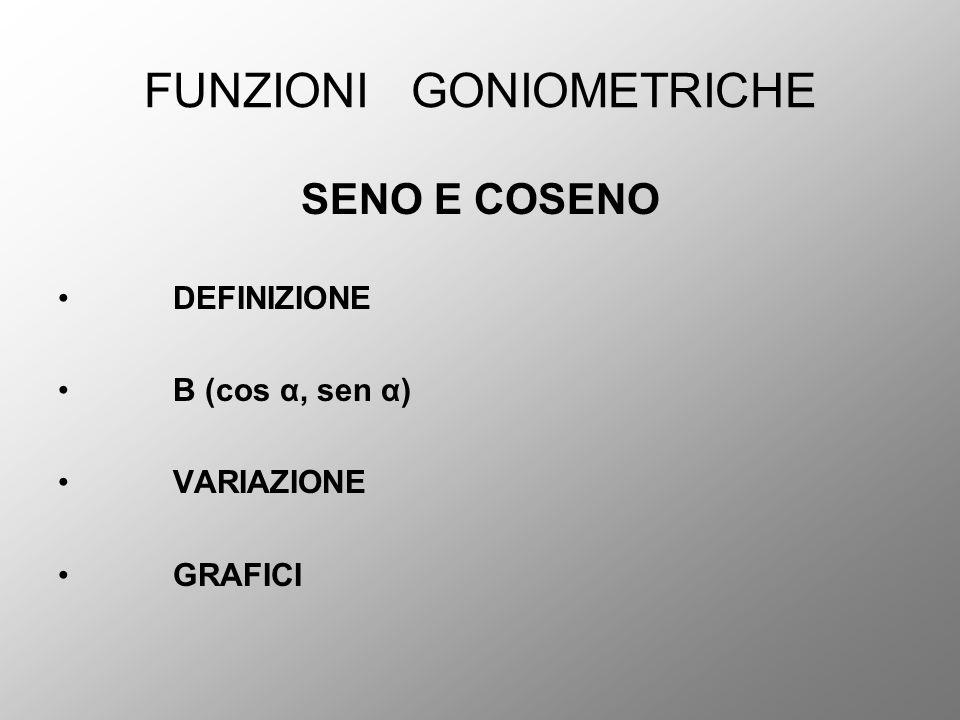 FUNZIONI GONIOMETRICHE