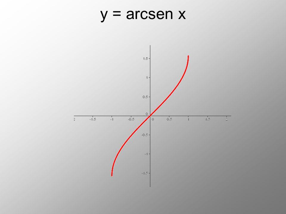 y = arcsen x