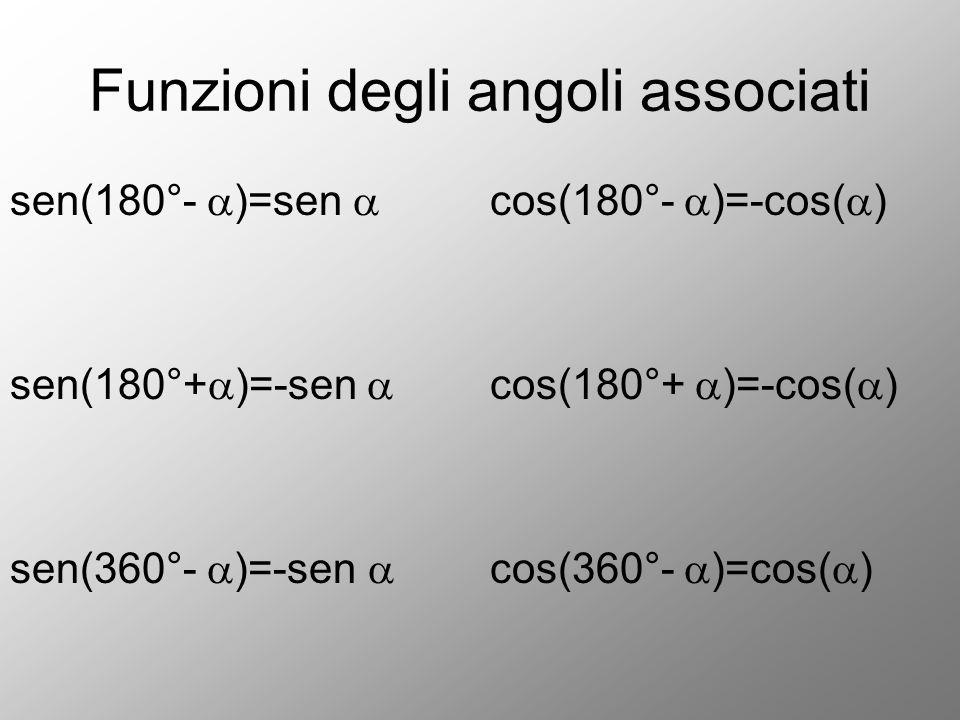 Funzioni degli angoli associati