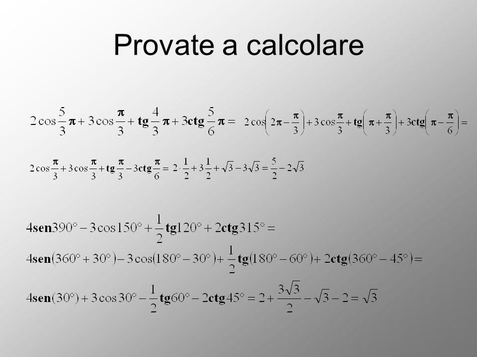 Provate a calcolare