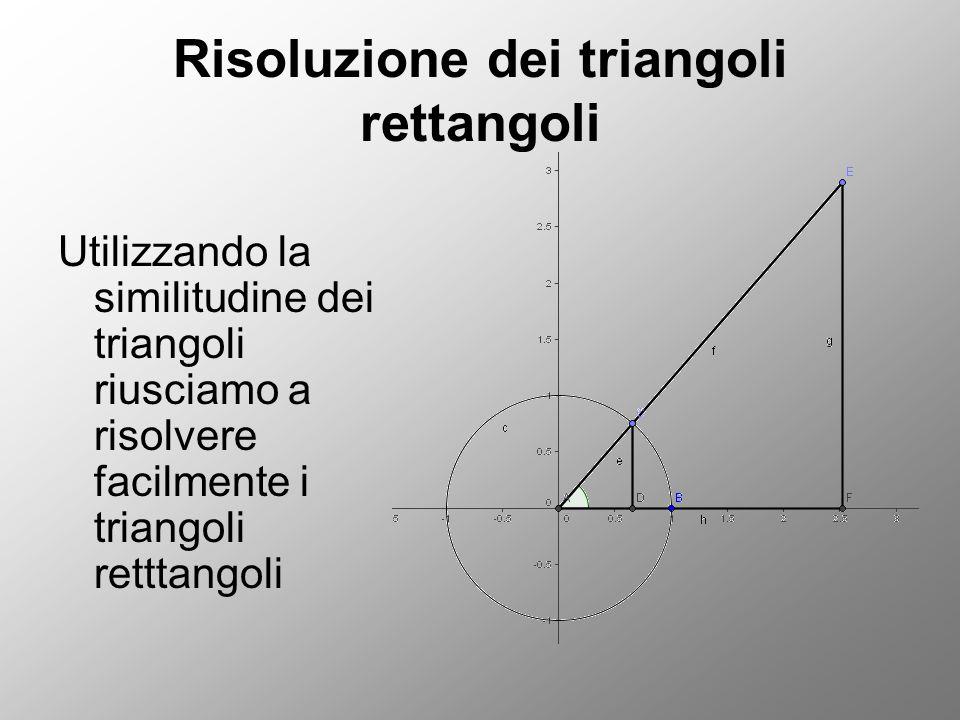 Risoluzione dei triangoli rettangoli