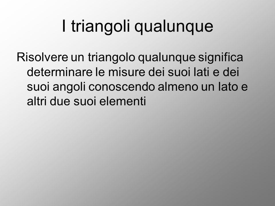 I triangoli qualunque