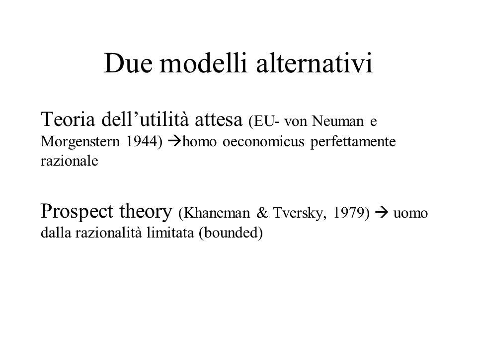 Due modelli alternativi