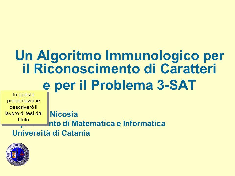 Un Algoritmo Immunologico per il Riconoscimento di Caratteri