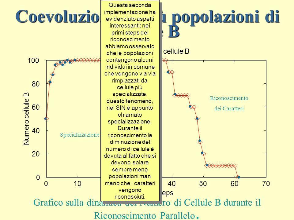 Coevoluzione di più popolazioni di cellule B