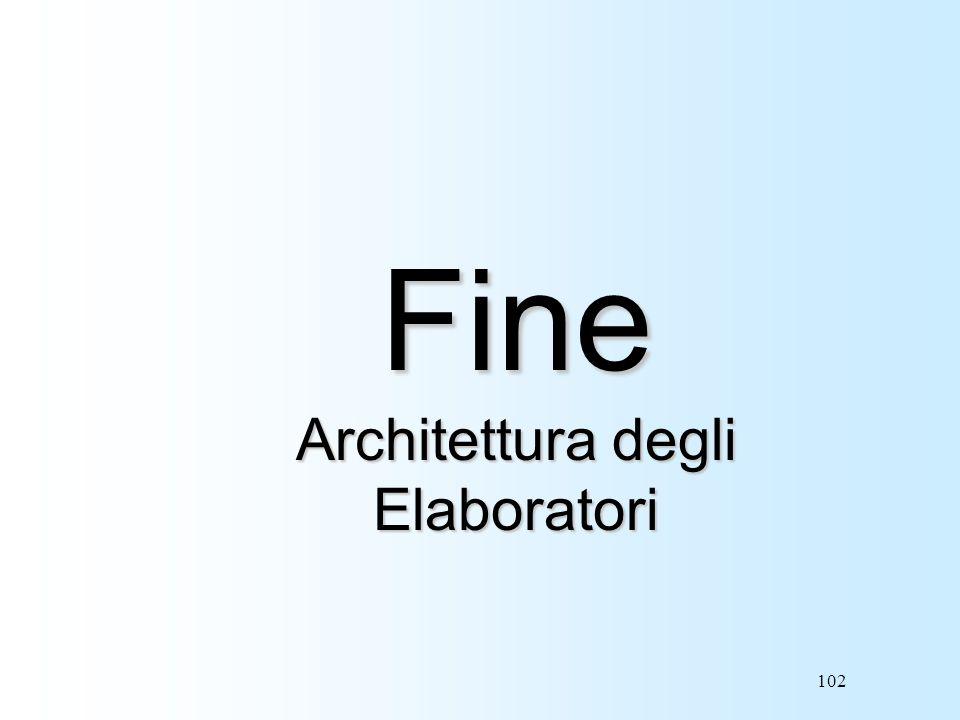 Fine Architettura degli Elaboratori