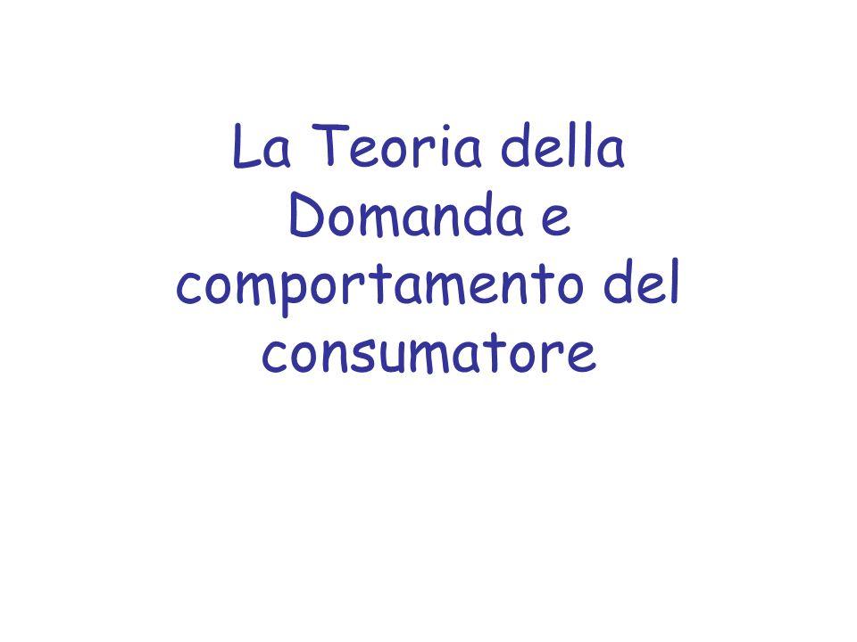 La Teoria della Domanda e comportamento del consumatore
