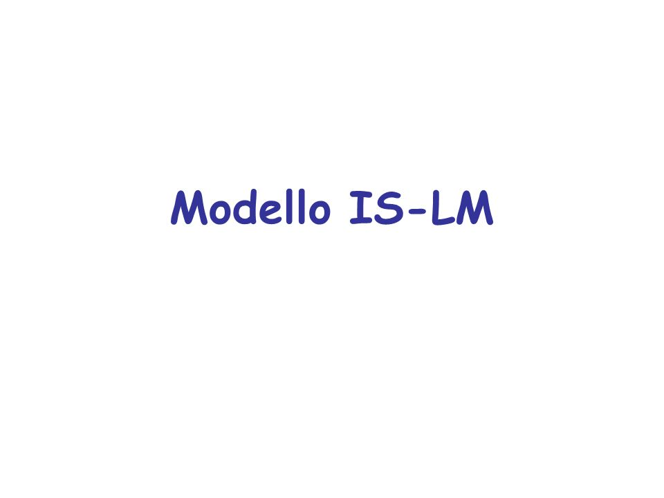 Modello IS-LM
